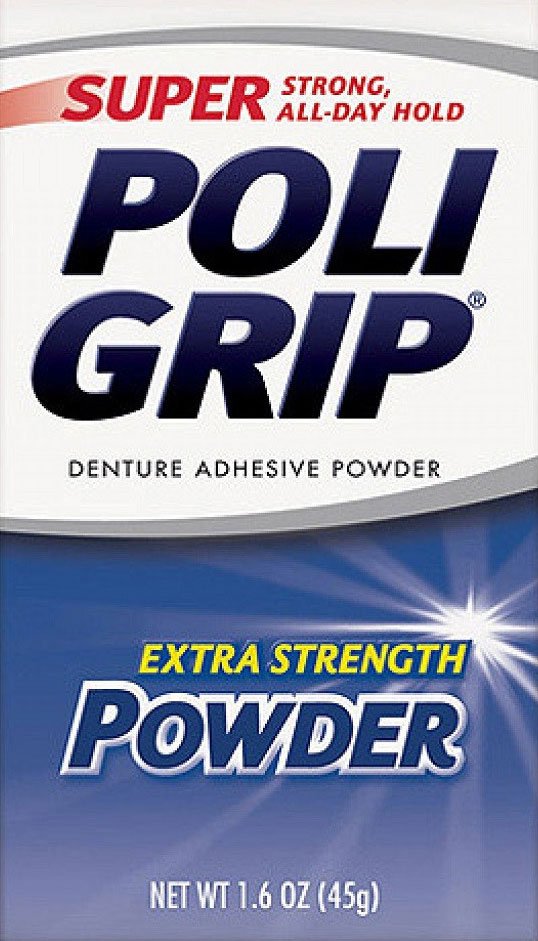 PoliGrip Super Denture Adhesive Powder, Extra Strength